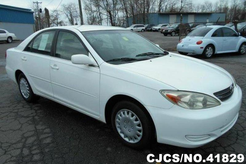 2003 left hand toyota camry white for sale stock no 41829 left hand used cars exporter. Black Bedroom Furniture Sets. Home Design Ideas