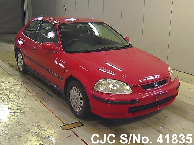 1997 honda civic red for sale stock no 41835 japanese used cars exporter. Black Bedroom Furniture Sets. Home Design Ideas
