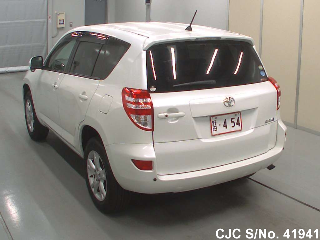 2009 toyota rav4 pearl for sale stock no 41941 japanese used cars exporter. Black Bedroom Furniture Sets. Home Design Ideas