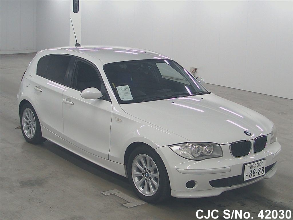 2005 bmw 1 series white for sale stock no 42030 japanese used cars exporter. Black Bedroom Furniture Sets. Home Design Ideas