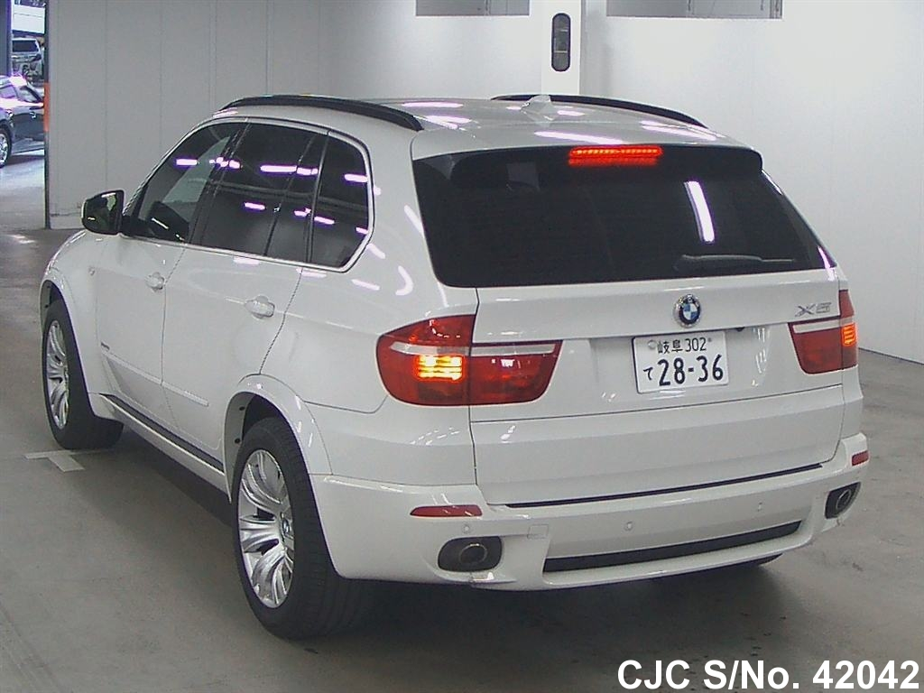 2009 bmw x5 white for sale stock no 42042 japanese used cars exporter. Black Bedroom Furniture Sets. Home Design Ideas