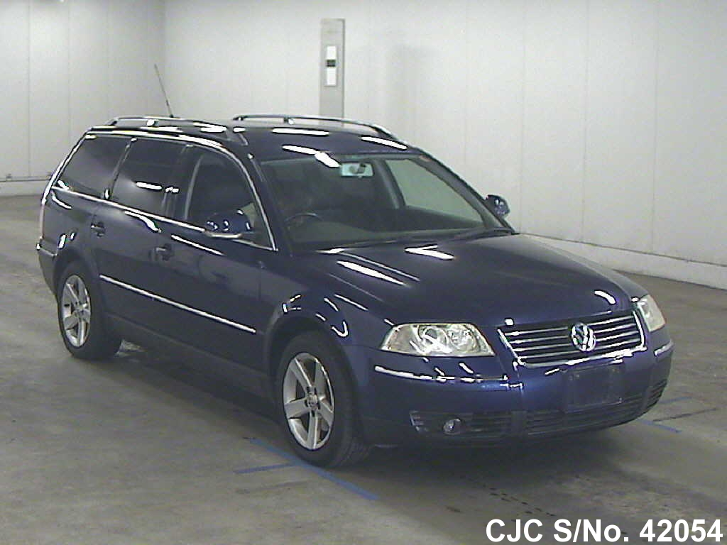 2004 volkswagen passat blue for sale stock no 42054 japanese used cars exporter. Black Bedroom Furniture Sets. Home Design Ideas
