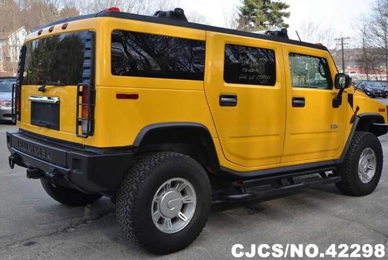 2003 left hand hummer h2 yellow for sale stock no 42298. Black Bedroom Furniture Sets. Home Design Ideas