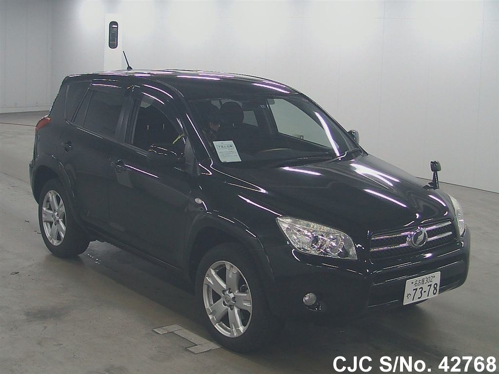 2007 toyota rav4 black for sale stock no 42768 japanese used cars exporter. Black Bedroom Furniture Sets. Home Design Ideas
