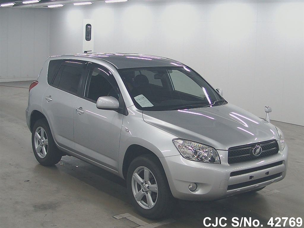 2006 toyota rav4 silver for sale stock no 42769 japanese used cars exporter. Black Bedroom Furniture Sets. Home Design Ideas