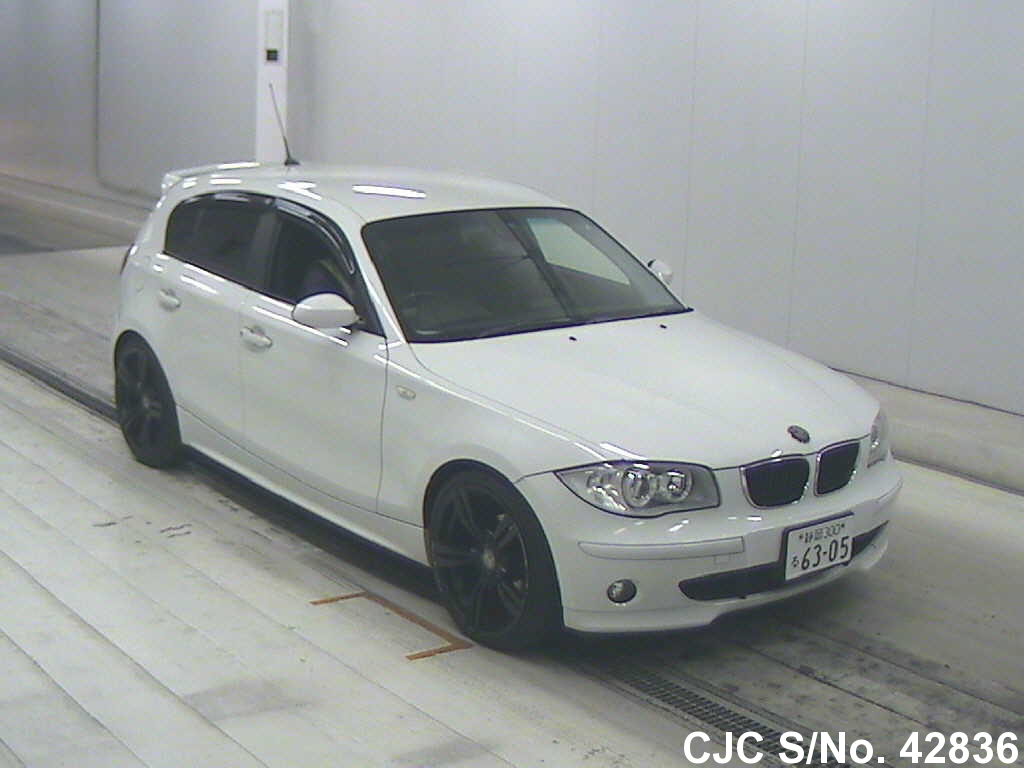 2005 bmw 1 series white for sale stock no 42836 japanese used cars exporter. Black Bedroom Furniture Sets. Home Design Ideas