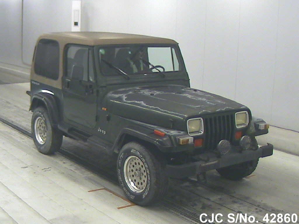 1996 jeep wrangler green for sale stock no 42860 japanese used cars exporter. Black Bedroom Furniture Sets. Home Design Ideas