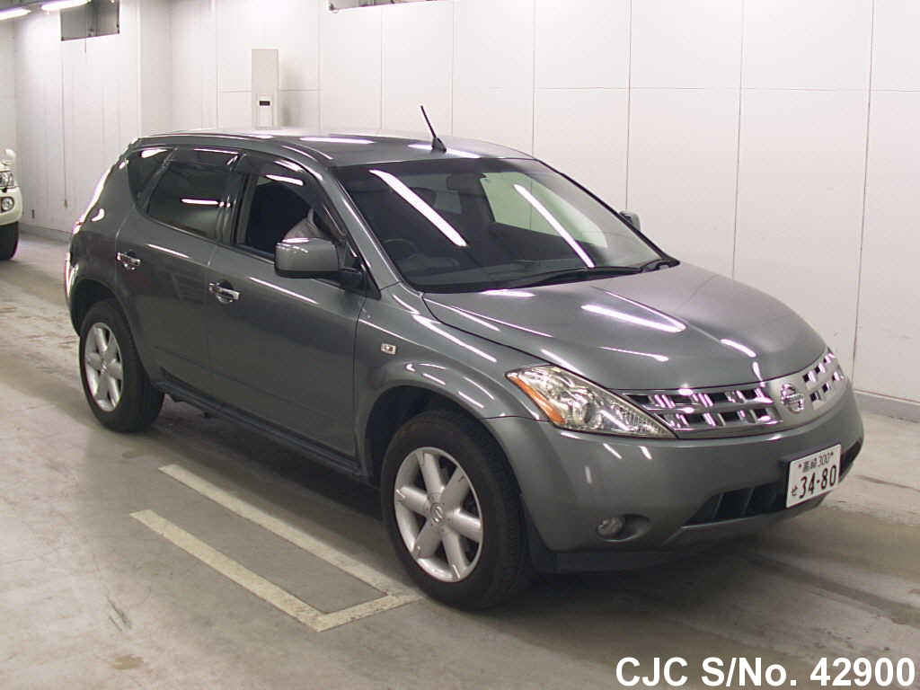 2004 nissan murano gray for sale stock no 42900 japanese used cars exporter. Black Bedroom Furniture Sets. Home Design Ideas