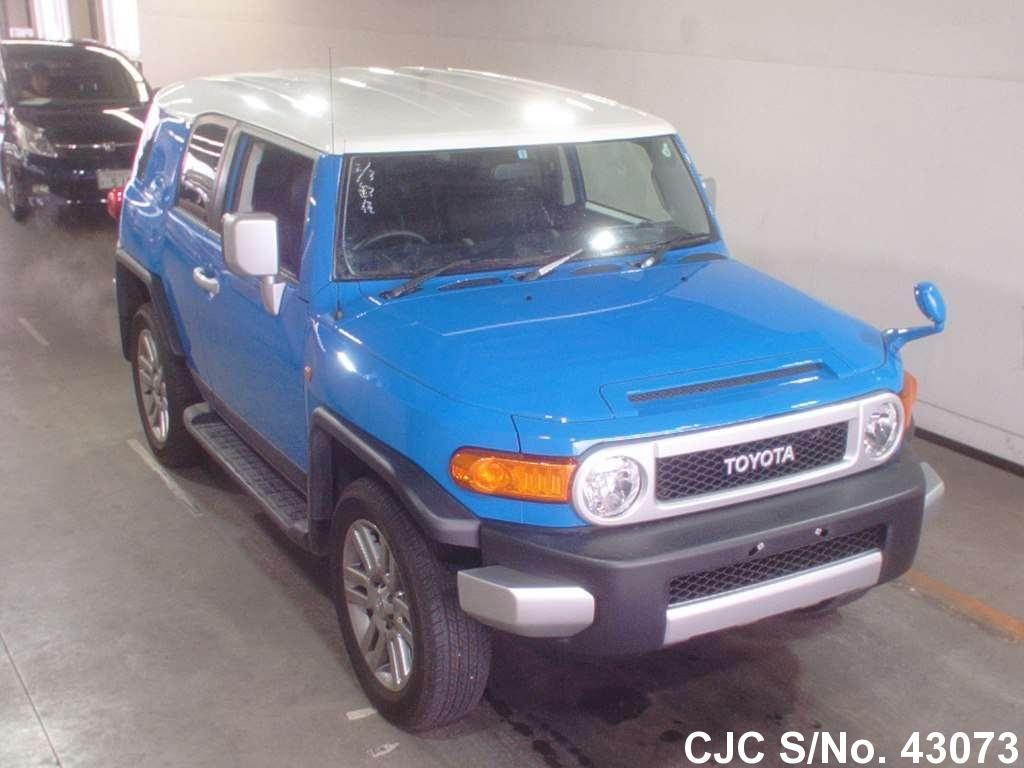 2012 toyota fj cruiser blue 2 tone for sale stock no 43073 japanese used cars exporter. Black Bedroom Furniture Sets. Home Design Ideas