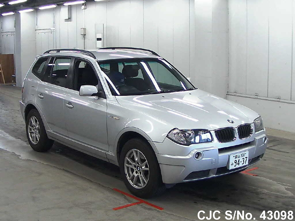 2005 bmw x3 silver for sale stock no 43098 japanese used cars exporter. Black Bedroom Furniture Sets. Home Design Ideas