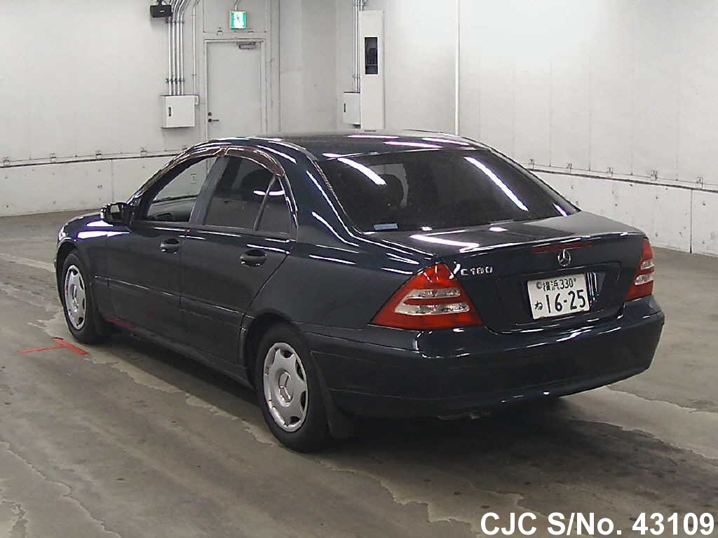 2001 mercedes benz c class black for sale stock no 43109 japanese used cars exporter. Black Bedroom Furniture Sets. Home Design Ideas