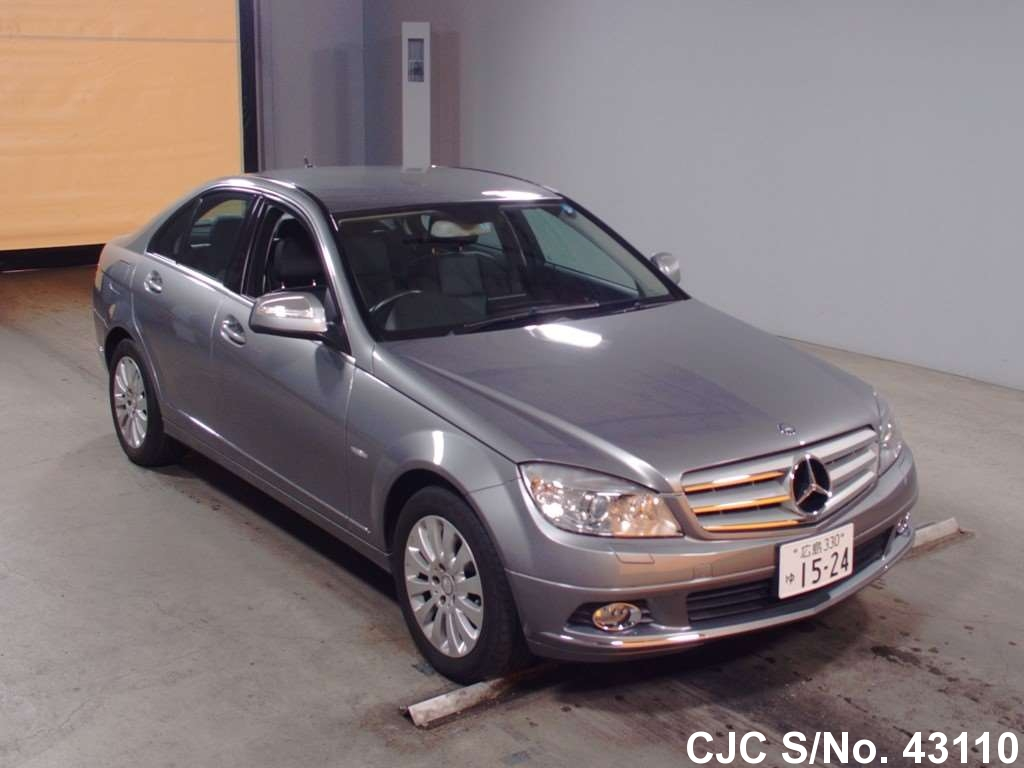 2007 mercedes benz c class gray for sale stock no 43110 japanese used cars exporter. Black Bedroom Furniture Sets. Home Design Ideas