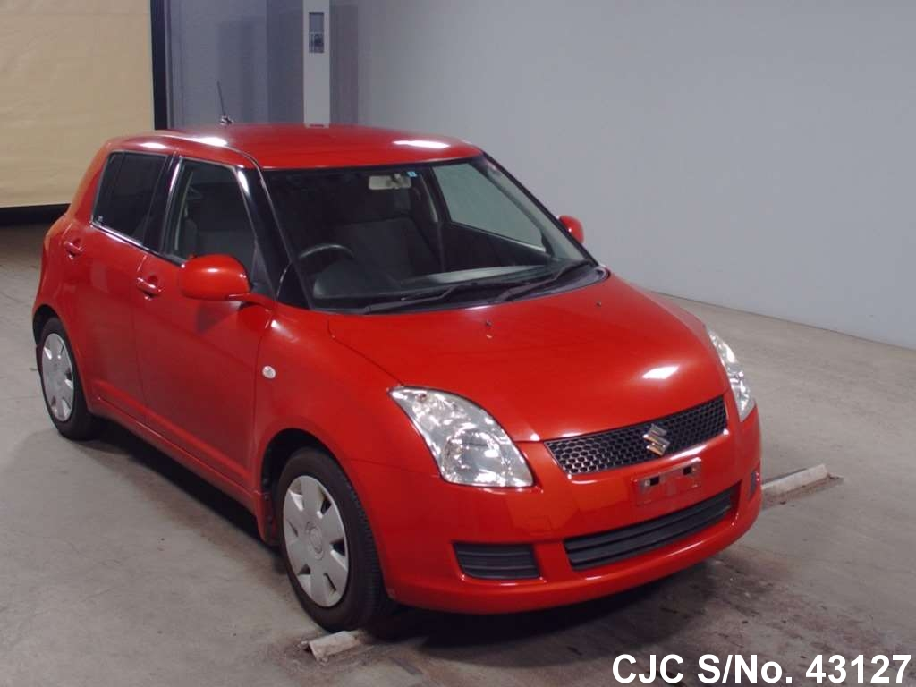 2009 suzuki swift red for sale stock no 43127 japanese used cars exporter. Black Bedroom Furniture Sets. Home Design Ideas