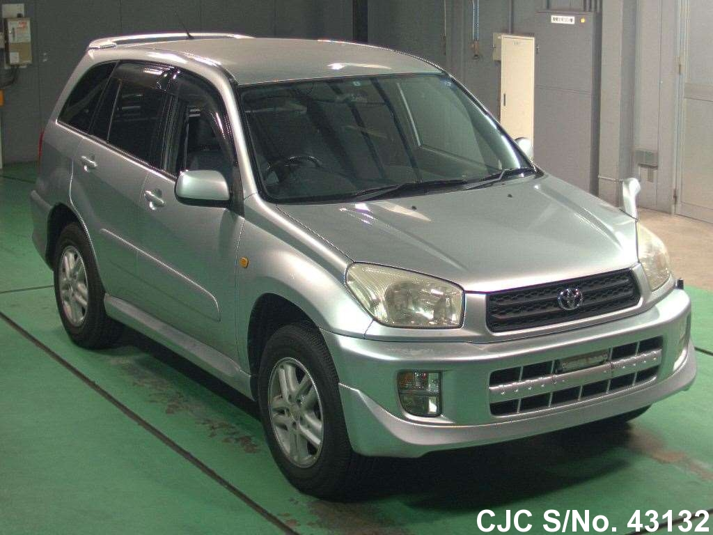 2001 toyota rav4 silver for sale stock no 43132 japanese used cars exporter. Black Bedroom Furniture Sets. Home Design Ideas