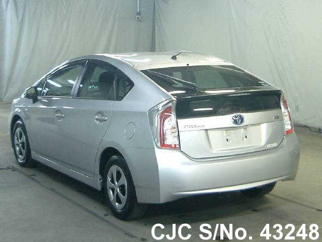 2013 toyota prius hybrid silver for sale stock no 43248 japanese used cars exporter. Black Bedroom Furniture Sets. Home Design Ideas