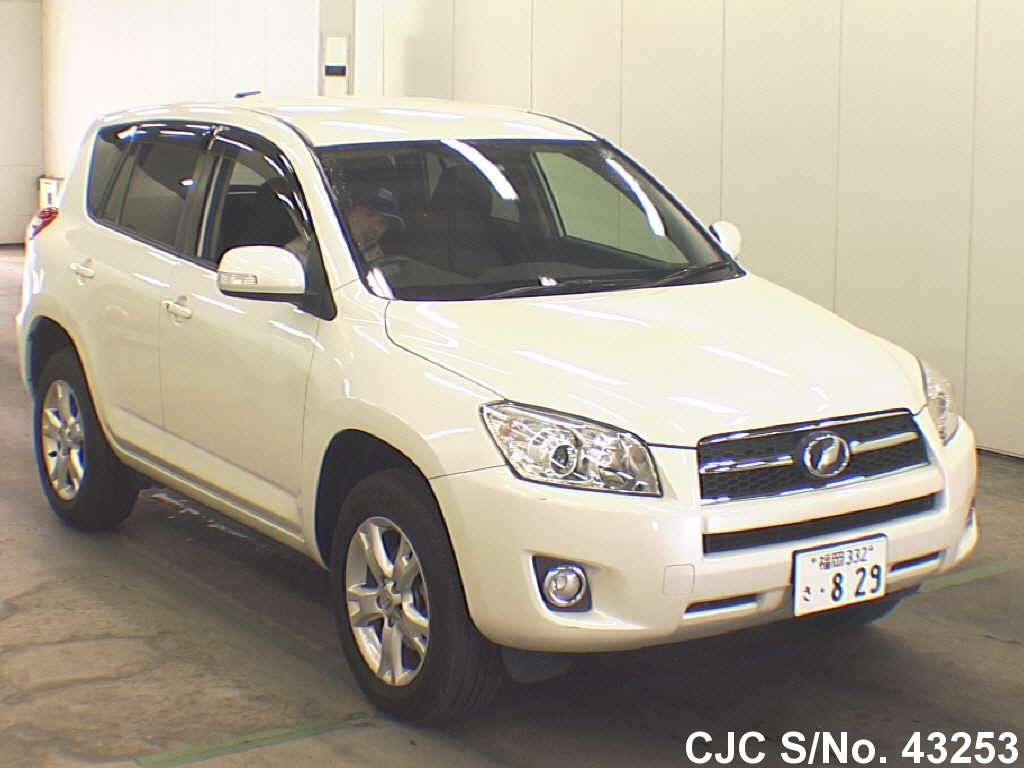 2009 toyota rav4 pearl for sale stock no 43253 japanese used cars exporter. Black Bedroom Furniture Sets. Home Design Ideas