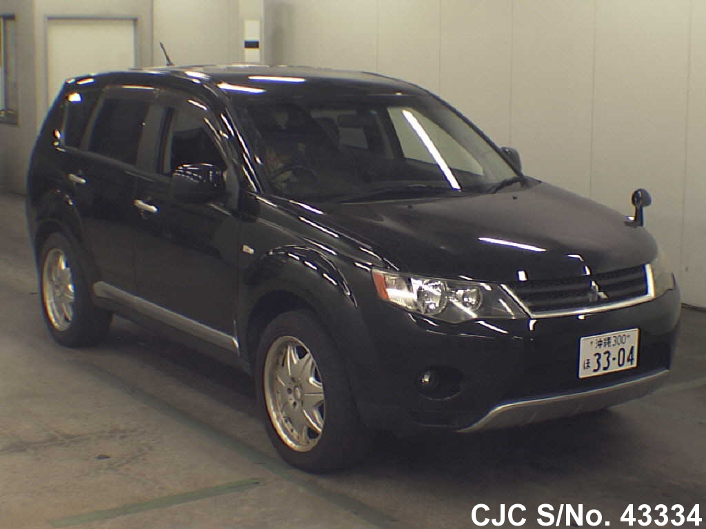 2006 mitsubishi outlander black for sale stock no 43334 japanese used cars exporter. Black Bedroom Furniture Sets. Home Design Ideas