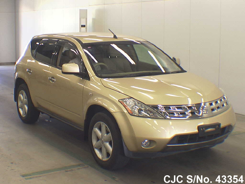 2005 nissan murano gold for sale stock no 43354 japanese used cars exporter. Black Bedroom Furniture Sets. Home Design Ideas
