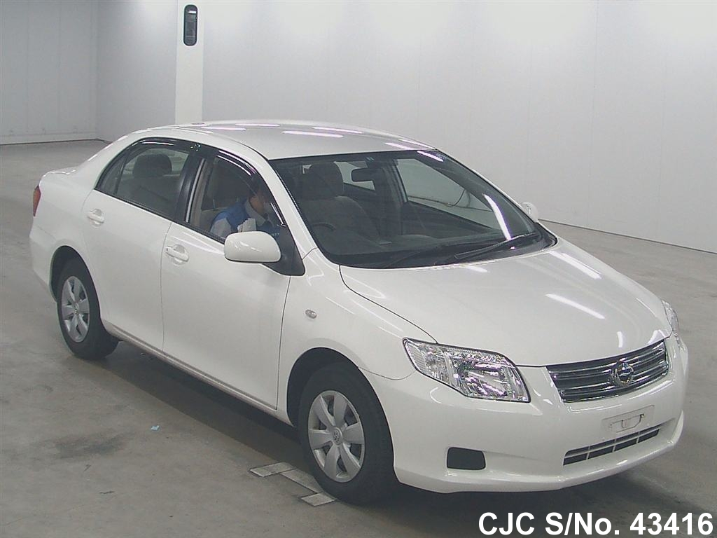 2008 toyota corolla axio white for sale stock no 43416 japanese used cars exporter. Black Bedroom Furniture Sets. Home Design Ideas