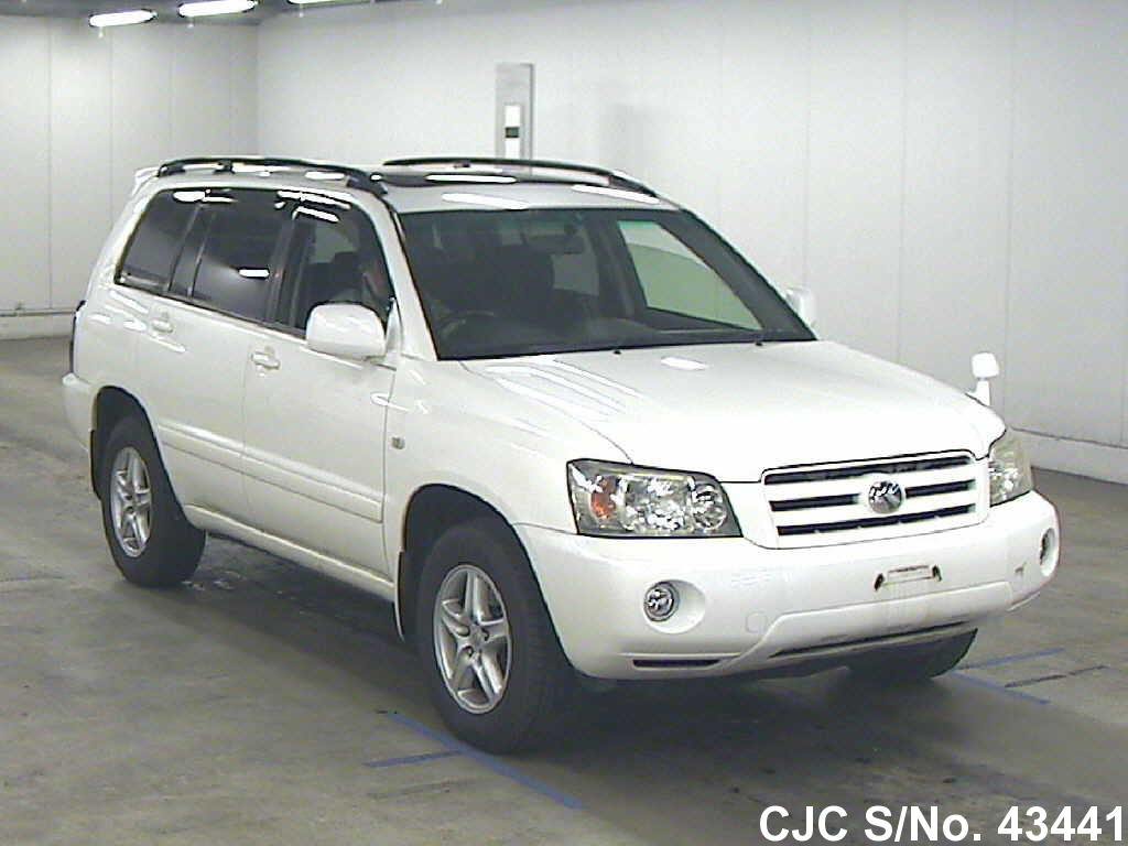 2005 toyota kluger pearl for sale stock no 43441
