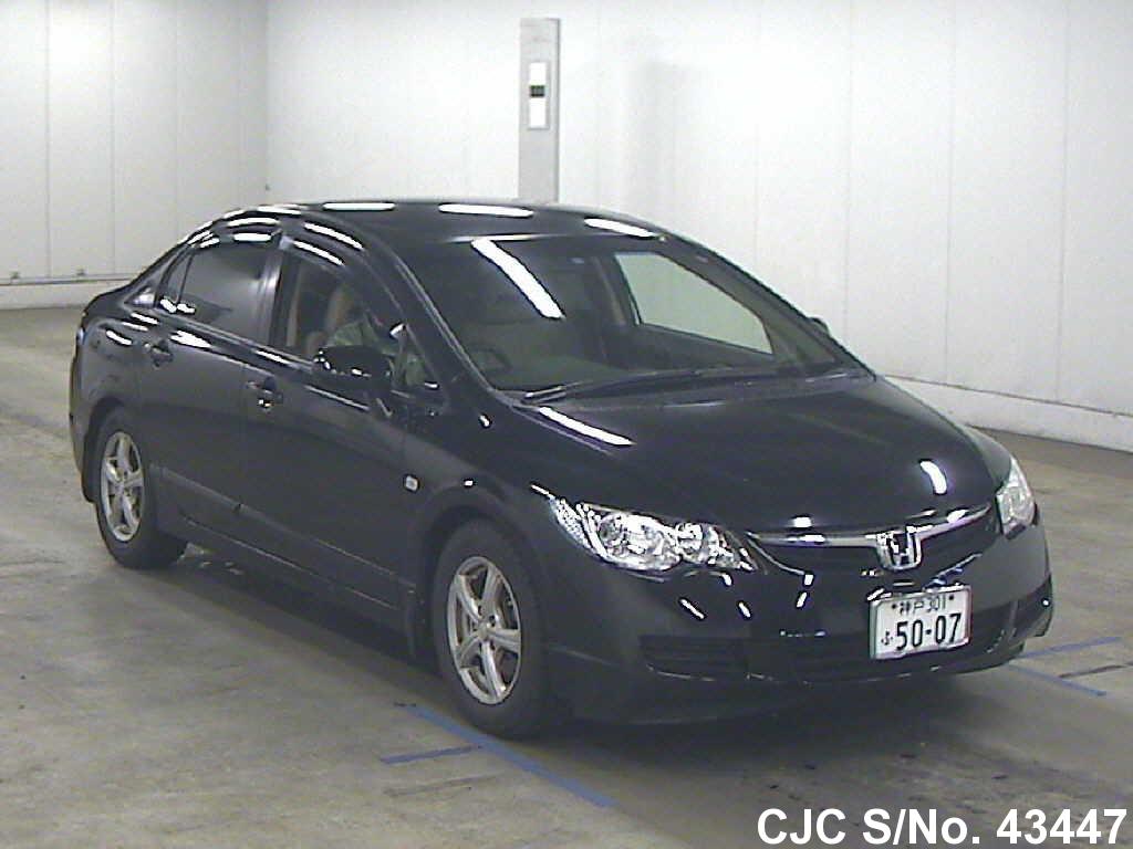 2006 honda civic black for sale stock no 43447 japanese used cars exporter. Black Bedroom Furniture Sets. Home Design Ideas