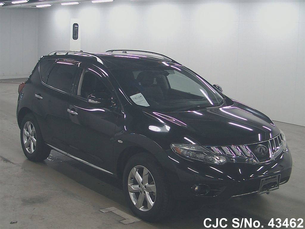 2009 nissan murano black for sale stock no 43462 japanese used cars exporter. Black Bedroom Furniture Sets. Home Design Ideas