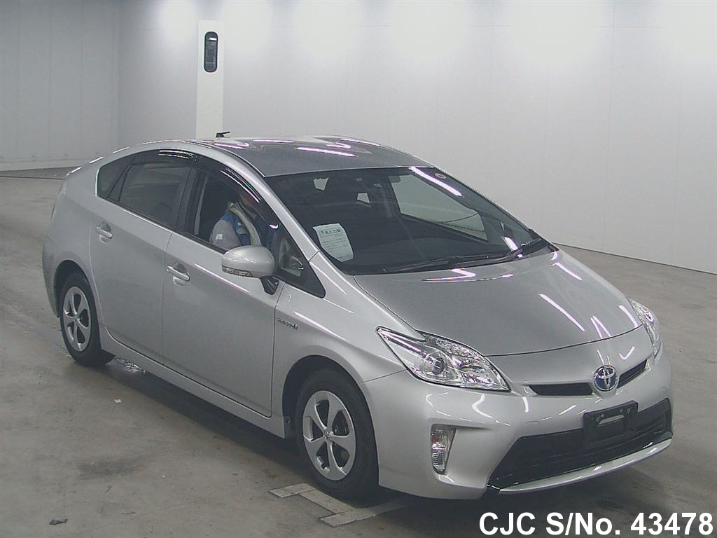 2012 toyota prius hybrid silver for sale stock no 43478 japanese used cars exporter. Black Bedroom Furniture Sets. Home Design Ideas