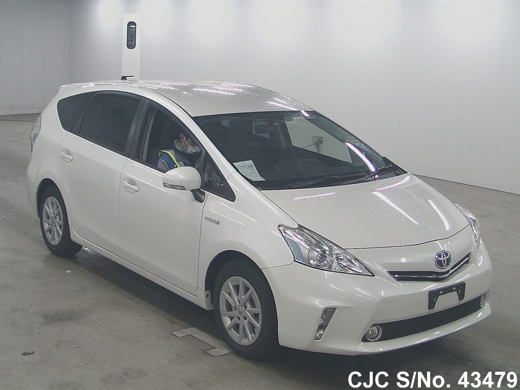 2013 toyota prius alpha pearl for sale stock no 43479 japanese used cars exporter. Black Bedroom Furniture Sets. Home Design Ideas