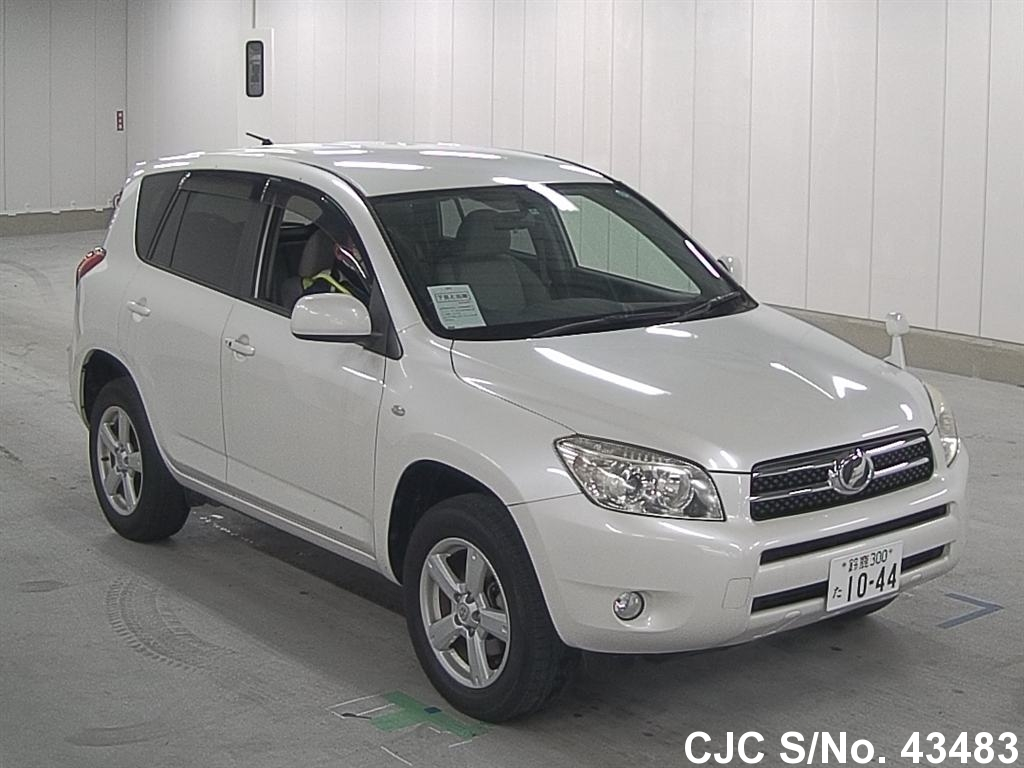 2007 toyota rav4 pearl for sale stock no 43483 japanese used cars exporter. Black Bedroom Furniture Sets. Home Design Ideas