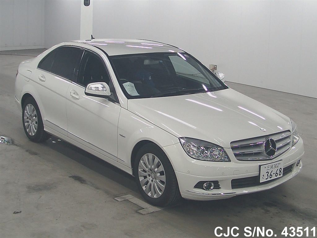 2008 mercedes benz c class white for sale stock no