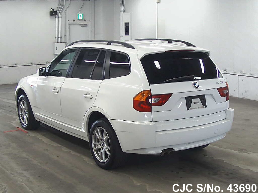 2005 bmw x3 white for sale stock no 43690 japanese used cars exporter. Black Bedroom Furniture Sets. Home Design Ideas