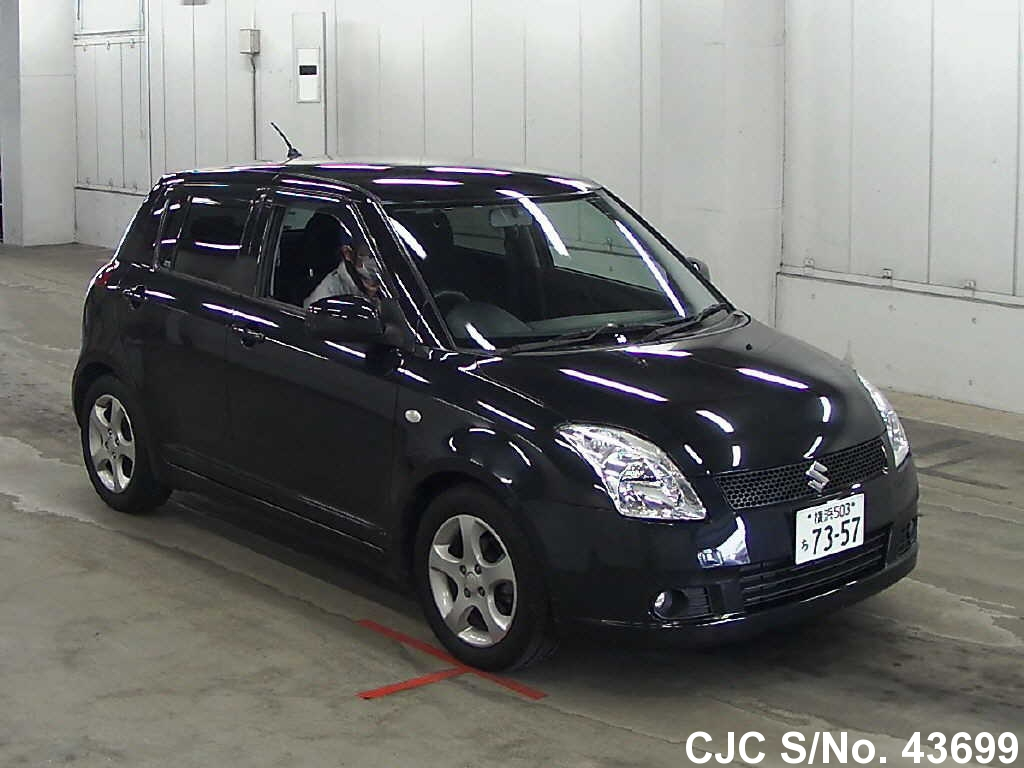 2006 suzuki swift black for sale stock no 43699 japanese used cars exporter. Black Bedroom Furniture Sets. Home Design Ideas