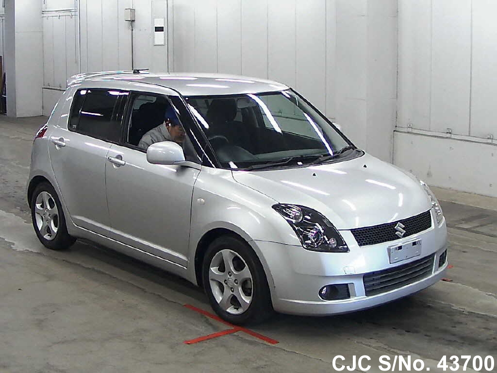 2007 suzuki swift silver for sale stock no 43700 japanese used cars exporter. Black Bedroom Furniture Sets. Home Design Ideas