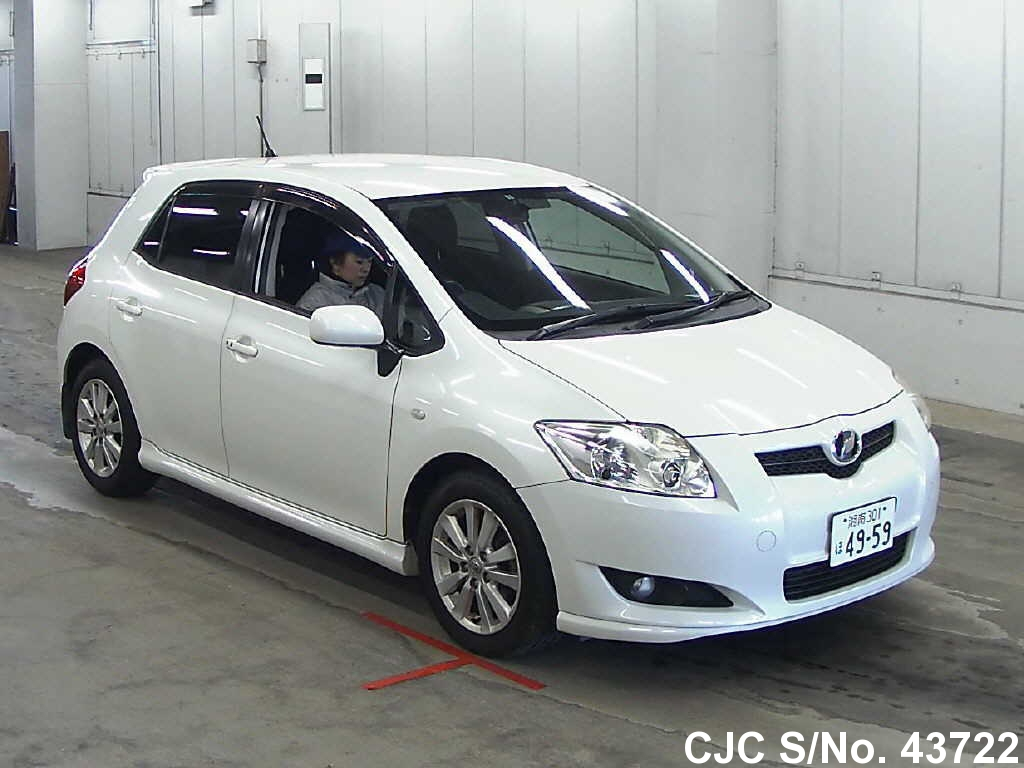2007 toyota auris pearl for sale stock no 43722 japanese used cars exporter. Black Bedroom Furniture Sets. Home Design Ideas