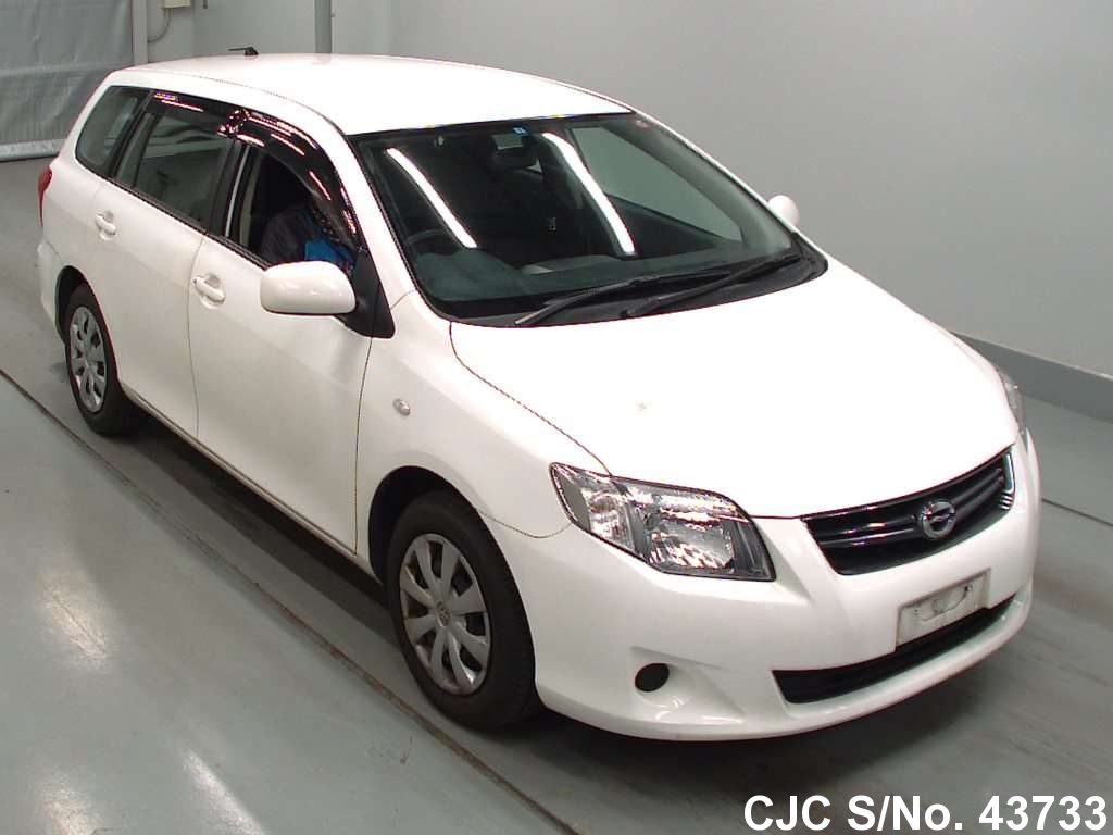 2011 toyota corolla fielder white for sale stock no 43733 japanese used cars exporter. Black Bedroom Furniture Sets. Home Design Ideas