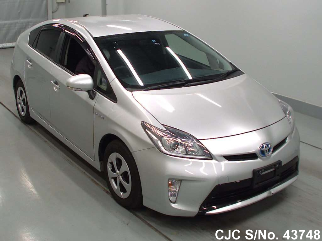 2012 toyota prius hybrid silver for sale stock no 43748 japanese used cars exporter. Black Bedroom Furniture Sets. Home Design Ideas