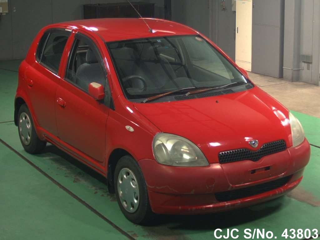 2000 toyota vitz yaris red for sale stock no 43803 japanese used cars exporter. Black Bedroom Furniture Sets. Home Design Ideas