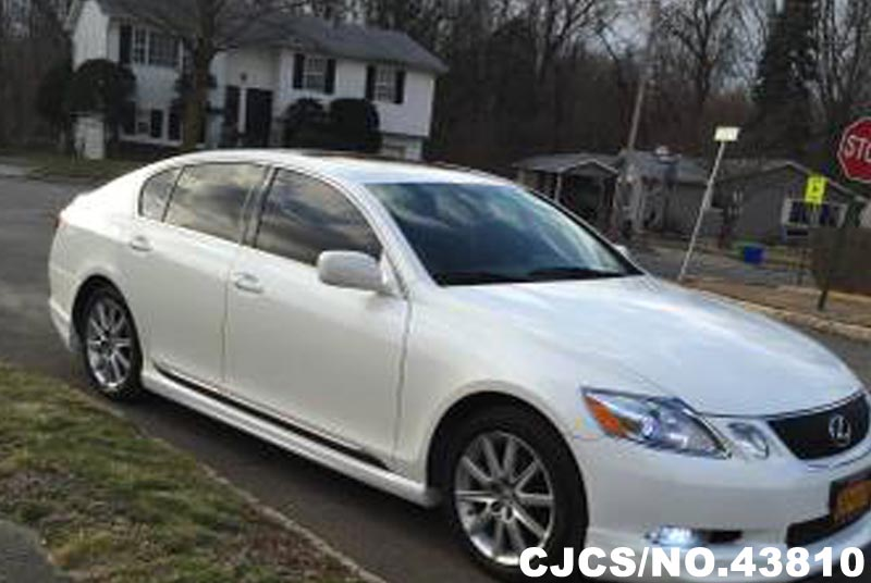 2006 left hand lexus gs300 white for sale stock no. Black Bedroom Furniture Sets. Home Design Ideas
