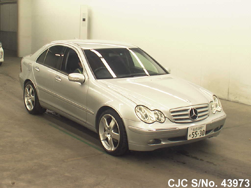 2001 mercedes benz c class silver for sale stock no 43973 japanese used cars exporter. Black Bedroom Furniture Sets. Home Design Ideas