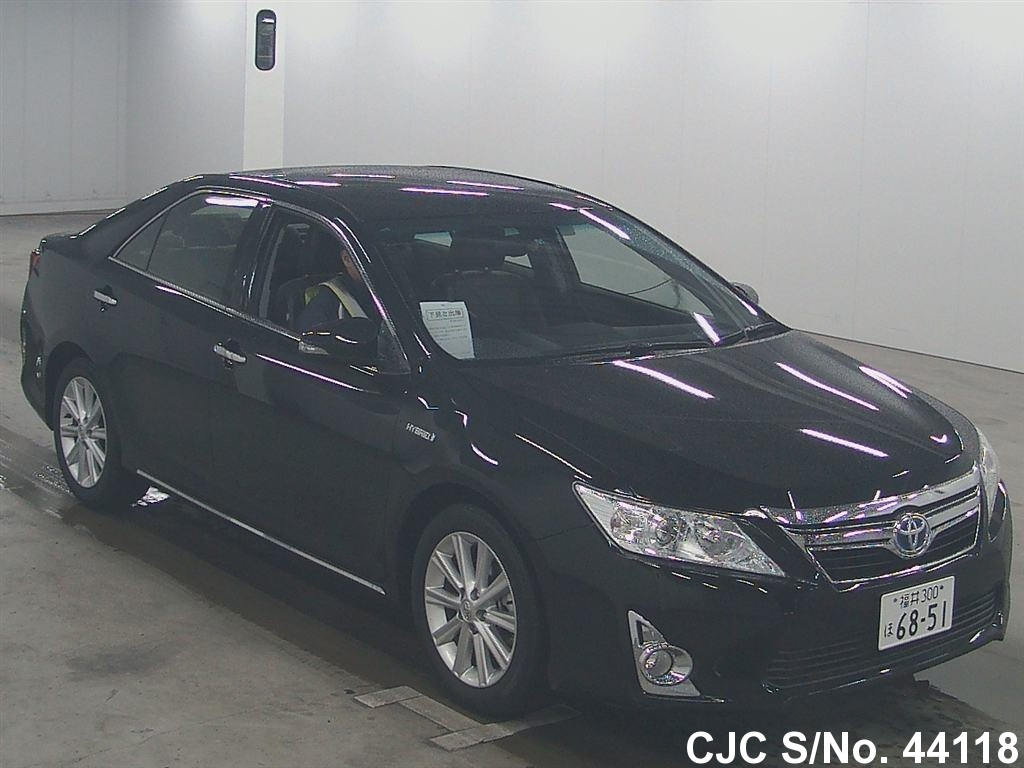 2011 toyota camry black for sale stock no 44118 japanese used cars exporter. Black Bedroom Furniture Sets. Home Design Ideas