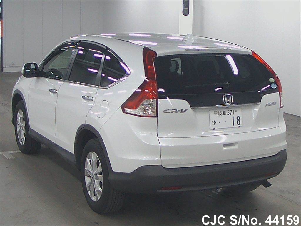 2012 honda crv white for sale stock no 44159 japanese used cars exporter. Black Bedroom Furniture Sets. Home Design Ideas