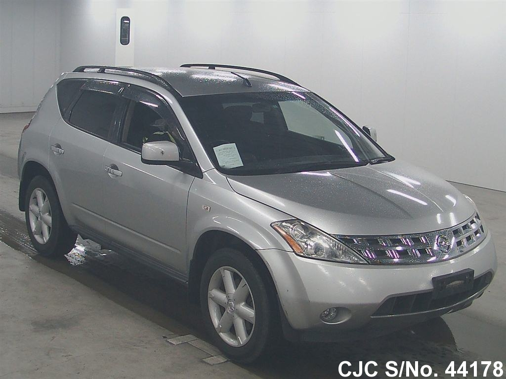 2005 nissan murano silver for sale stock no 44178 japanese used cars exporter. Black Bedroom Furniture Sets. Home Design Ideas