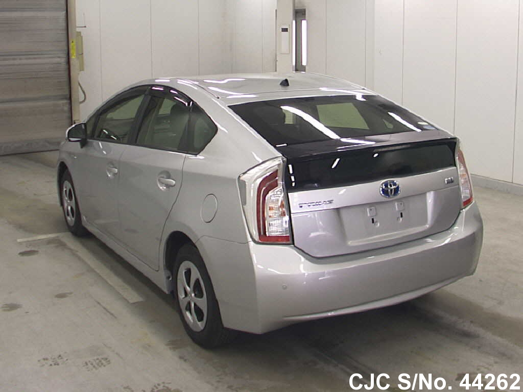 2012 toyota prius hybrid silver for sale stock no 44262 japanese used cars exporter. Black Bedroom Furniture Sets. Home Design Ideas