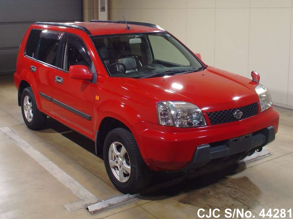 2003 nissan x trail red for sale stock no 44281 japanese used cars exporter. Black Bedroom Furniture Sets. Home Design Ideas