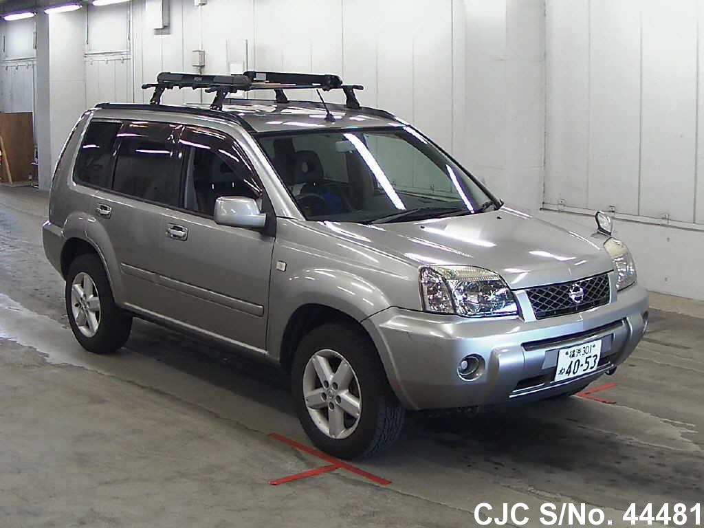 2003 nissan x trail silver for sale stock no 44481 japanese used cars exporter. Black Bedroom Furniture Sets. Home Design Ideas