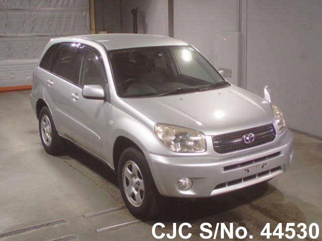 2005 toyota rav4 silver for sale stock no 44530 japanese used cars exporter. Black Bedroom Furniture Sets. Home Design Ideas
