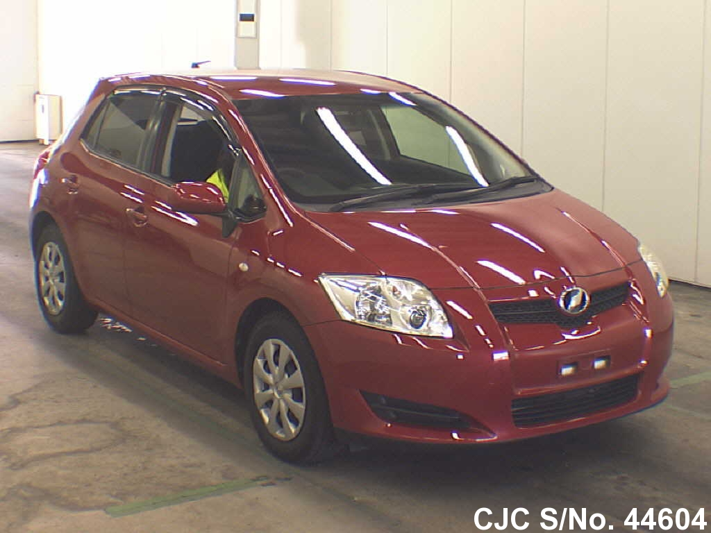 2009 toyota auris wine for sale stock no 44604 japanese used cars exporter. Black Bedroom Furniture Sets. Home Design Ideas