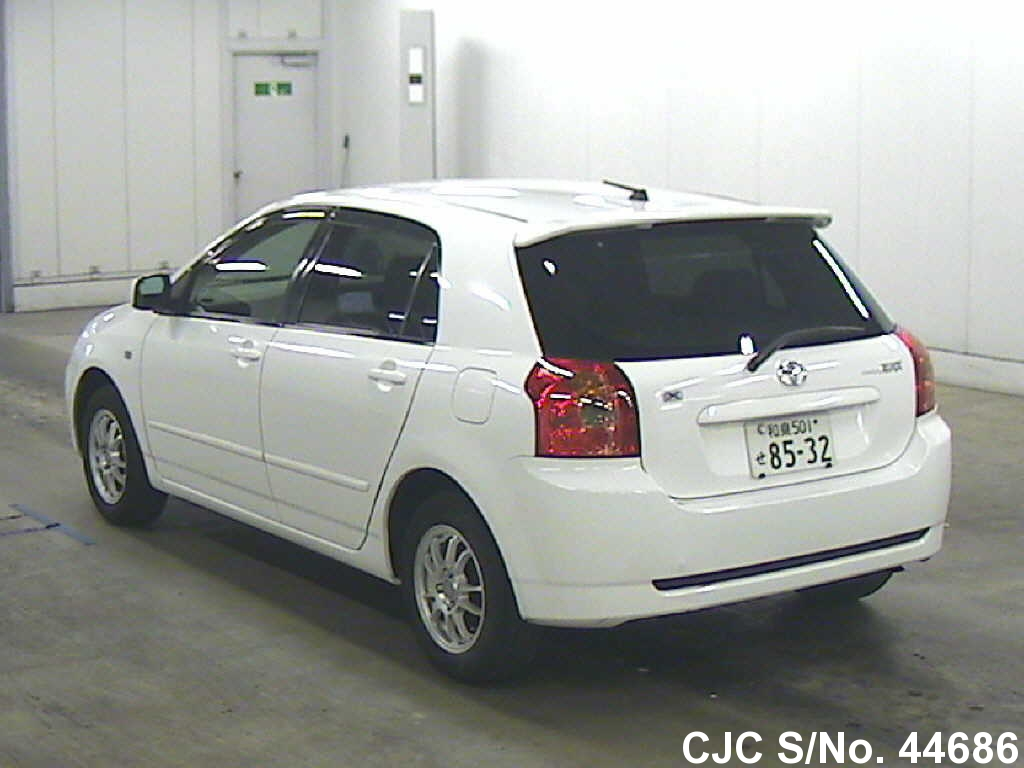 2004 toyota corolla runx white for sale stock no 44686 japanese used cars exporter. Black Bedroom Furniture Sets. Home Design Ideas