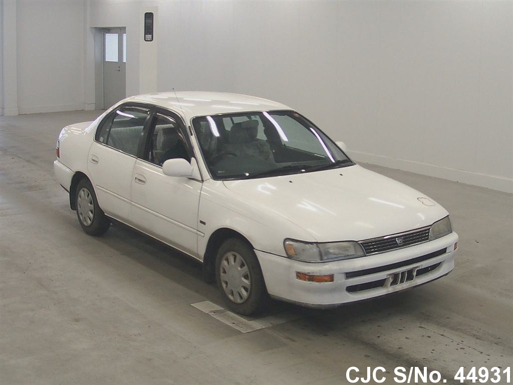 1995 toyota corolla white for sale stock no 44931 japanese used cars exporter. Black Bedroom Furniture Sets. Home Design Ideas