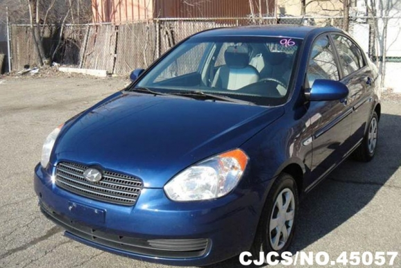 2007 left hand hyundai accent blue for sale stock no 45057 left hand used cars exporter. Black Bedroom Furniture Sets. Home Design Ideas